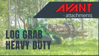 Log grab, heavy duty, Avant 300-700 Series attachment