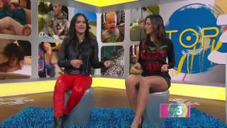 getlinkyoutube.com-Erika Csiszer hot legs - Un Nuevo Dia - 12/16/16