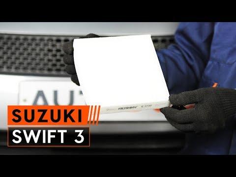 Как да сменим филтър за купе наSUZUKI SWIFT 3 Хечбек (ИНСТРУКЦИЯ AUTODOC)