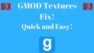 GMOD Textures Fix Errors Download 2017 - CSS Textures and Maps
