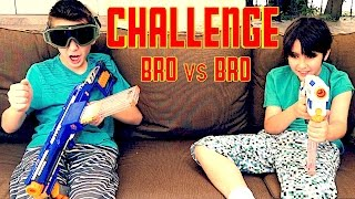 Nerf Challenge: Brother vs Brother!