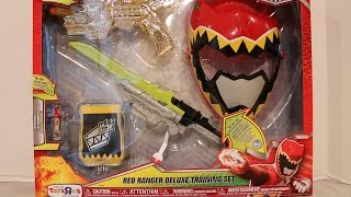 getlinkyoutube.com-Red Ranger Deluxe Training Set Review [Power Rangers Dino Charge]