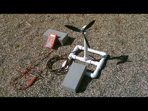 Homemade Wind Turbine Generator! - Wind Power Generator! - simple DIY (runs radio!)