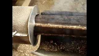 getlinkyoutube.com-screw presses for briquetting sawdust and biomass(briketiranje piljevine).mpg