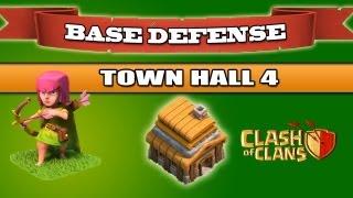 getlinkyoutube.com-Clash of Clans - BEST Base Defense - Town Hall 4