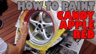 getlinkyoutube.com-How to paint candy apple red DIY
