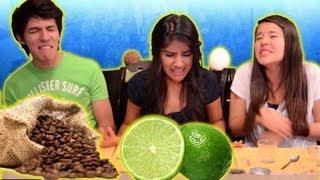 getlinkyoutube.com-Reto: Comiendo Café soluble, Limón y Aceite | Reto Polinesio