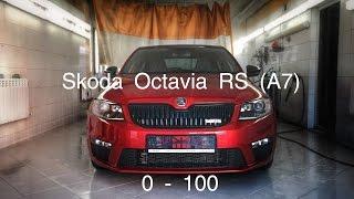 getlinkyoutube.com-Skoda Octavia RS Mk3 (Dynatek st.1) разгон 0-100, 100-200