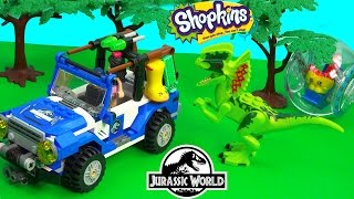 getlinkyoutube.com-Shopkins Season 3 Dinosaur Jurassic World Movie Playset LEGO and Friends Toy Play Video Cookieswirlc