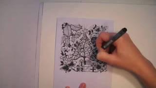 getlinkyoutube.com-Johanna Basford for YCN : Christmas Card Creating