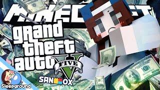 금고 폭파!! [마인크래프트 GTA: 은행 털이범] - Minecraft GTA - [잠뜰]
