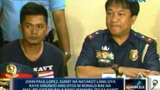 Saksi: John Paul Lopez, na kasama ng lalaking namaril sa Kawit, Cavite, isinuko ng mga kaanak