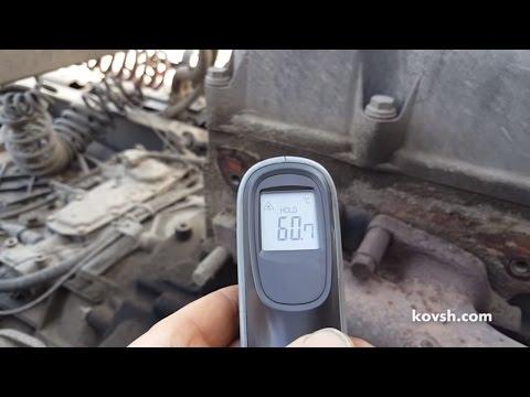 Определение неработающего цилиндра на Renault Premium 370 DCi 11.1 инфракрасным термометром