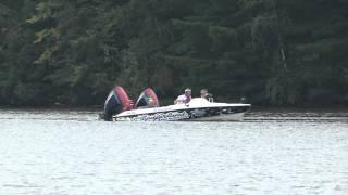 getlinkyoutube.com-Smokin Hot Evinrude 300 HP x 3 Ski Boat