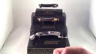 getlinkyoutube.com-Review #29: Darth Tyranus & Darth Sidious .45 Scale Lightsaber Hilts