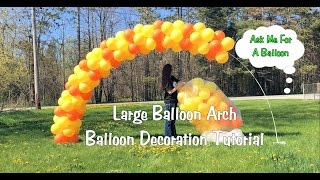 getlinkyoutube.com-Large Balloon Arch Tutorial - Setup and Tear Down