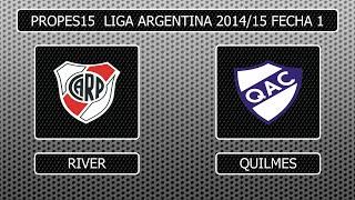 getlinkyoutube.com-PES6/PP15 Liga Argentina 2014/15 1º Fecha River Plate-Quilmes