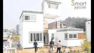 getlinkyoutube.com-이동식주택 스마트하우스 3.2하우스 설치.