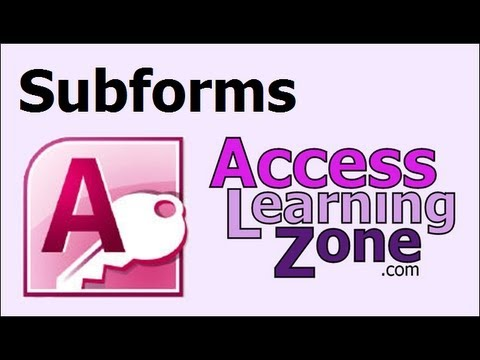 Microsoft Access Form with a SubForm Tutorial