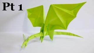 getlinkyoutube.com-Origami Simple Dragon 折り紙 折り方 シンプルなドラゴン