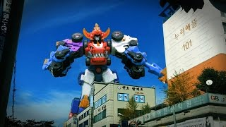 getlinkyoutube.com-공룡합체 다이노코어 5단합체 울트라 디버스터 티라노 장난감 로봇 변신 동영상