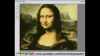 How to paint the Mona Lisa - PAINT