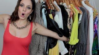 getlinkyoutube.com-HUGE clothing haul: Affordable & Designer!