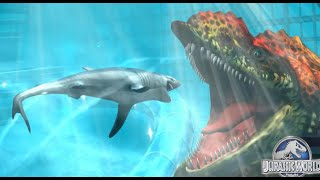Huge Underwater Monster Prognathodon - Jurassic World - The Game