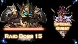getlinkyoutube.com-Heroes Charge, Raid 15, Boss, Queen of Curse VS Savage One