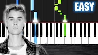getlinkyoutube.com-Justin Bieber - Sorry - EASY Piano Tutorial by PlutaX - Synthesia