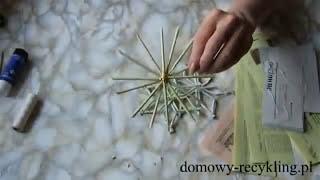 getlinkyoutube.com-Jak zrobić gwiazdki z wikliny papierowej - ozdoby świąteczne