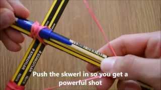 getlinkyoutube.com-كيف تصنع قوس يطلق السهام؟  بأدوات بسيطة و بطريقة سهلة