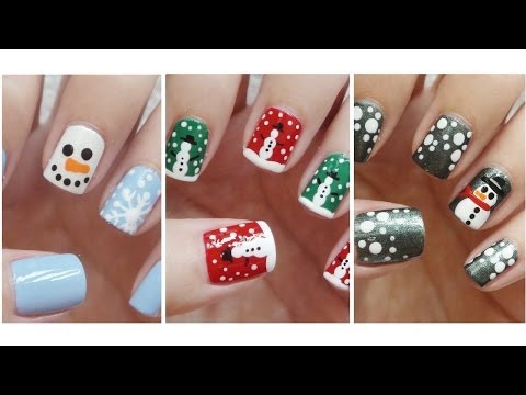 Snowman Nail Art ❄ Three Easy Designs!!!