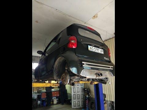 Smart fortwo почти сняли двигатель + subwoofer