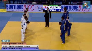 getlinkyoutube.com-Georgia vs France -Team Semi-Final - JUDO European Championships - 2014 Montpellier