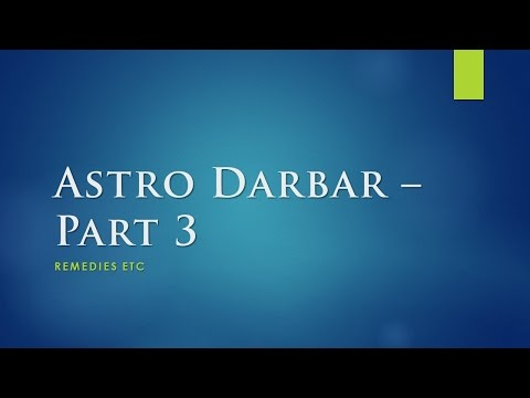 Astro Darbar Part 3 - Remedy for Wealth and Unfulfilled Manat [Hindi + Eng]