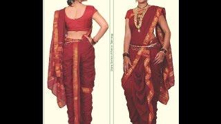 getlinkyoutube.com-Easy Mastani saree cutting and stitching with English subtitles.