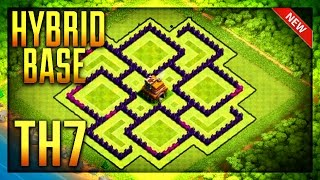 Town Hall 7 Hybrid Base Defense (CoC) Th7 Cup Base 2017 / Town Hall 7 Farming Base Design