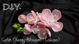 getlinkyoutube.com-D.I.Y. Satin Cherry-Blossom (Sakura) さくら | MyInDulzens