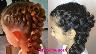 getlinkyoutube.com-TRENZA CON ROSA|Trenza Cabello Largo| Peinados Faciles,Sencillos,Elegantes