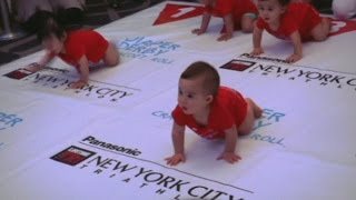 Adorable babies crawl towards glory in Diaper Derby