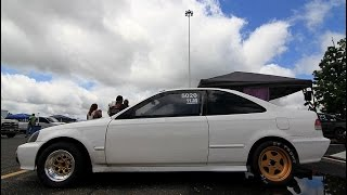 getlinkyoutube.com-Nyce1s - Eric's Ooh! K All Motor Civic @ Pan American Nationals Atco 2015...