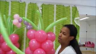 getlinkyoutube.com-columna con flores en globos