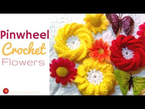 Pinwheel Crochet Flower