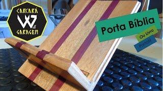 getlinkyoutube.com-Porta Bíblia ou Livro dobrável - Faça você mesmo Marcenaria - Wood Bible Stand - DIY
