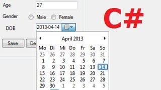 getlinkyoutube.com-C# Tutorial 23: How to use DateTimePicker and save date in Database