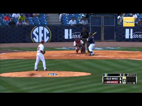 05/22/2013  Ole Miss vs Arkansas Baseball Highlights