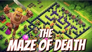 "getlinkyoutube.com-Clash of Clans | ""THE MAZE OF DEATH"" | TH 9 Troll Maze Base | Trolling Noobs"
