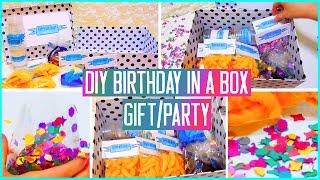 getlinkyoutube.com-DIY Birthday in a box! Throw a mini party for your friend! Gift idea