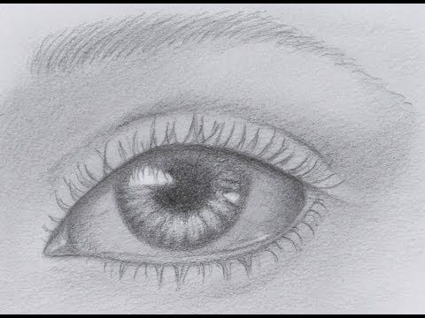 How to Draw a Realistic Eye - (Time Lapse)